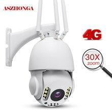 5MP Không Dây 3G 4G Thẻ Camera An Ninh HD 1080P 30X Zoom Quang PTZ Camera IP Ngoài Trời nhà Wifi Camera Quan Sát Giám Sát Cam