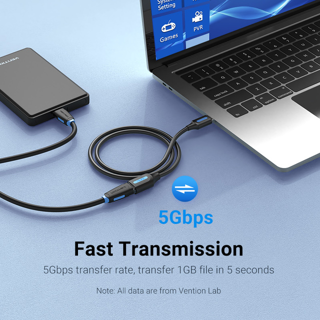 Vention USB 3.0 Extension Cable USB 3.0 2.0 Cable Extender Data Cord for PC Smart TV Xbox One SSD Fast Speed USB Cable Extension 2
