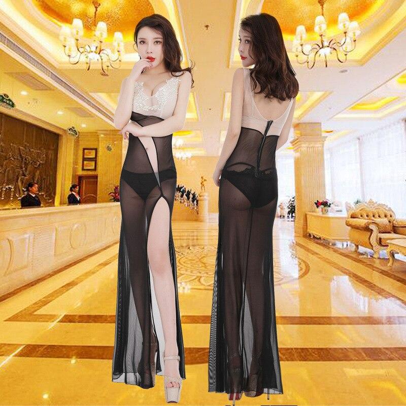 Ночной клуб отель сауна ножной техник обслуживание перспективная Марля Сексуальная Ночная одежда платье забавная перспективная юбка