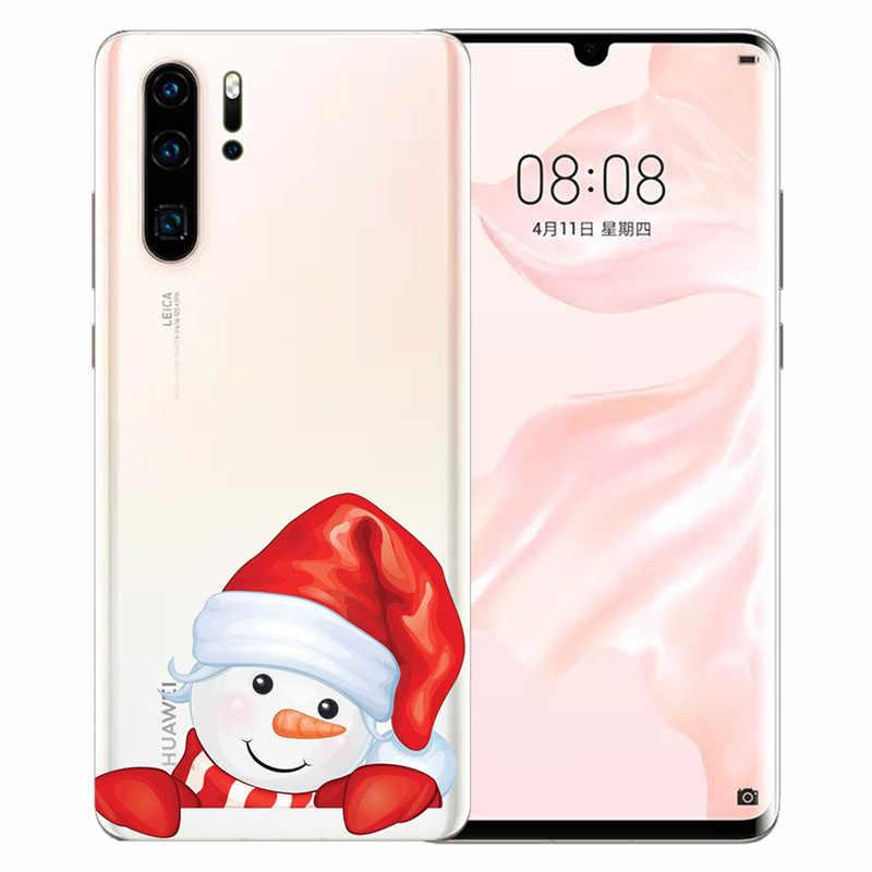 クリスマスサンタ Huawei 社メイト 9 10 20 P8 P9 P10 P20 P30 1080p スマート Lite プラスプロ電話ケースカバー Coque 小箱 funda ファッションギフト