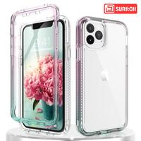 Gradient Clear Phone Case For iPhone 11 Pro Max case Transparent Soft TPU Silicone Case for iphone X XS XR case Cover Coque capa