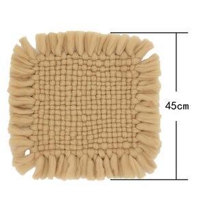 45*45 см одеяло из хлопкового волокна для новорожденных реквизит для фотосессии для малышей наполнитель для фотосессии Flokati Fotografia аксессуары ...