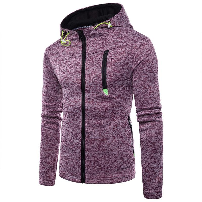 Fashion Men Sports Casual Wear stranger things Zipper Tide Jacquard Hoodies Fleece Jacket Fall Sweatshirts Autumn Winter Coat in Hoodies amp Sweatshirts from Men 39 s Clothing