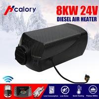 Hcalory 12 V/24 V 8000W LCD Switch Degreaser Wire Harness Split Machine Parkir Pemanas Mobil Perahu RV motor Truk Trailer