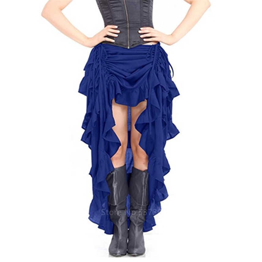 Onregelmatige Vrouwen Middeleeuwen Renaissance Rok Middeleeuwse Vintage Cosplay Kostuum Carnaval Gothic Steampunk Party Stage Dance Wear
