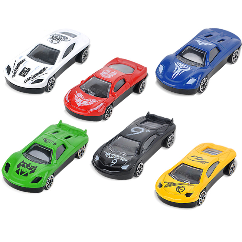 6 Pieces Set  Alloy Shell Mini Car Model Toys Inertia Car Toys For Boy Kids Children Good Gift Or Giveaway  Vehicle Toys