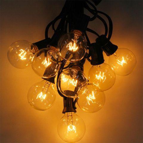 cordas globo g40 com 25 lampadas claras