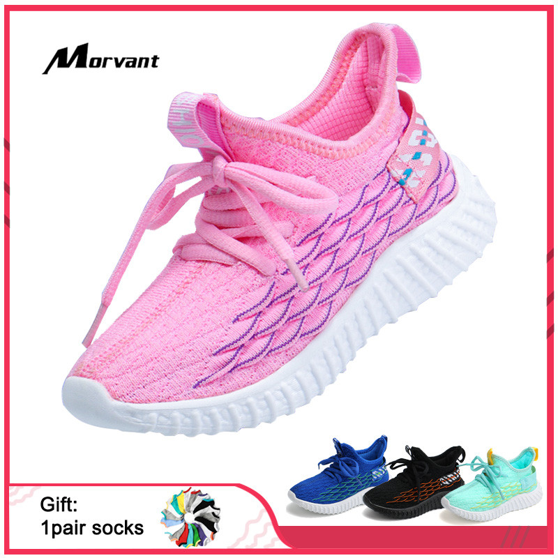 Kids Shoes Lightweight Children's Sneakers Soft Breathable Boys Girls Shoes Wear-resistant Bottom Kids Sneakers