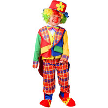 Umorden Halloween Easter Purim Party Costumes Kids Boy Funny Circus Clown Cosplay Costume Tuxedo Plaid Coat for Boys Children
