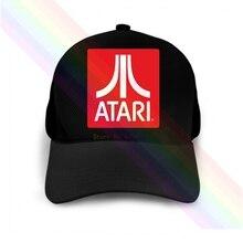 Atari Classic Red Block Logo 2020 Newest Black Popular Baseball Cap Hats Unisex