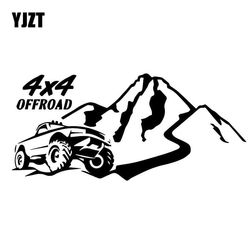 YJZT 8CM*17.5CM Brave And Handsome Off-Road Car Stickers Fashion Vinyl Decals Black/Silver C30-0429