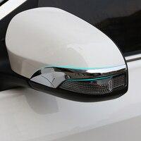 ABS Chrome Espelho Retrovisor Do Carro Decoração Tira de Cobertura Guarnição Styling Para Toyota Avensis 2015 2016 2017 2018 2019 Acessórios pcs 2