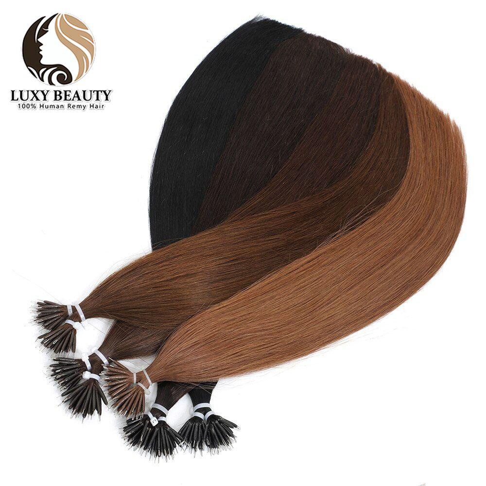 Human Hair Extensions micro ring hair extensions Nano ring Hair Extensions 50 Strands 18 inch micro hair extension