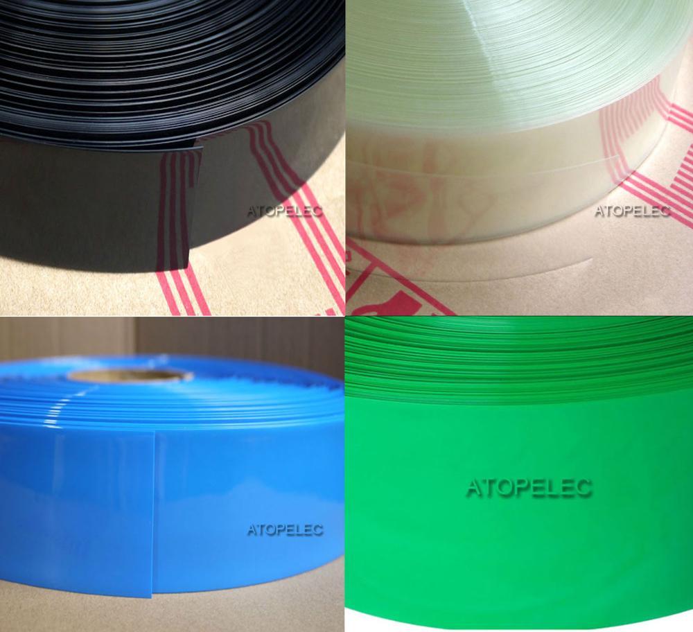 Transparent Φ115mm Battery Sleeve Wrap PVC Heat Shrink Tubing Width 180mm x 1M