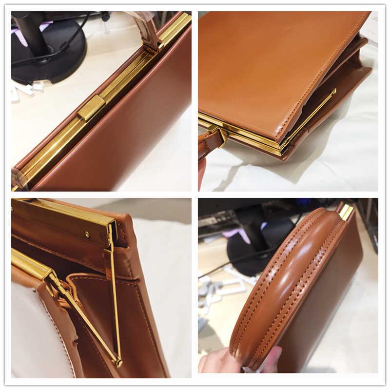 Vintage Verschluss Frauen Handtaschen Medium Metall Rahmen Design Hohe Qualität Weibliche Tote Taschen Herbst 2019 Rot Schwarz Box Verpackung