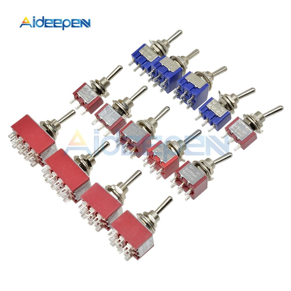 1Pcs 9-Pin 2 Position ON//ON 3PDT Toggle Switch 5A 125V //2A 250V AC MTS-302