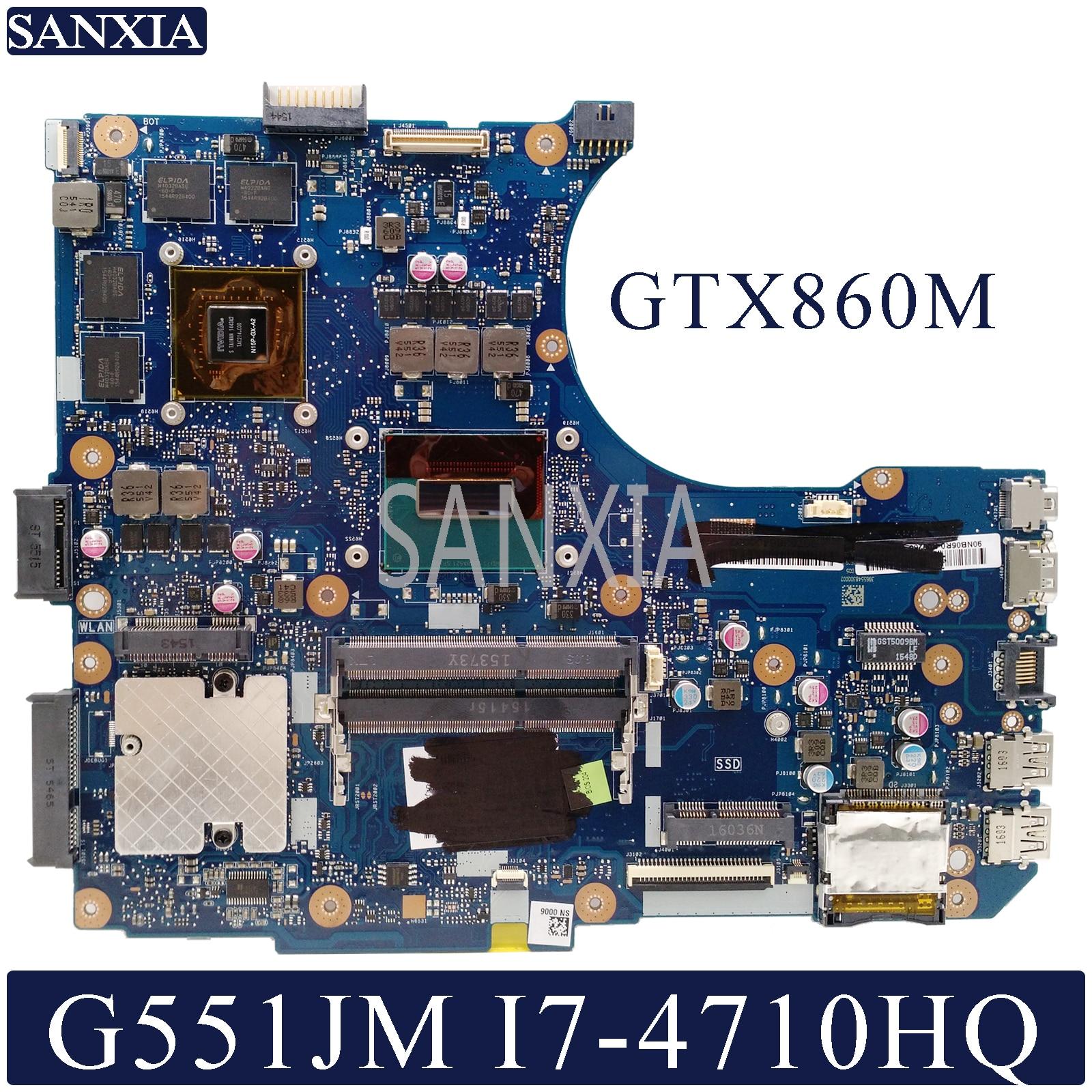 KEFU N551JM Laptop Motherboard For ASUS ROG G551JM G551JW G551JK N551JK N551JW Original Mainboard I7-4710HQ GTX860M