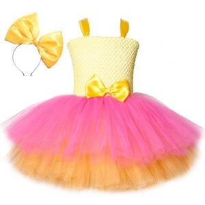 Image 1 - Mädchen Lol Tutu Kleid Nette Prinzessin Cartoon Puppe Mädchen Geburtstag Party Kleid für Kinder Mädchen Weihnachten Halloween Lol Cosplay Kostüm