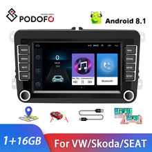 Podofo Car Multimedia Player 2 Din GPS Car Stereo Radio 7'' Canbus Car MP5 Player For Skoda VW Passat B6 Polo Golf 4 Touran Seat