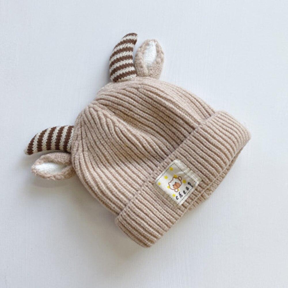 Осень и зима Корейская версия, милые вязаные свитера на хлопковой подкладке теплая шапка для младенца детская одежда из шерсти и Кепки Детский Рождественский подарок Кепки s - Цвет: 6