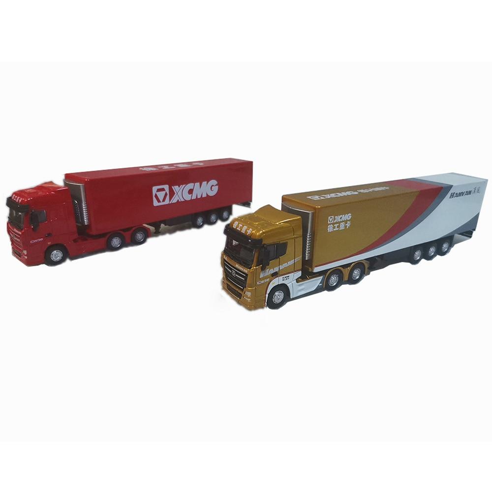 Строительная модель XCMG G900 в масштабе 1/87, контейнер для тяжелого грузовика, Реплика грузовика, коллекция красного золота