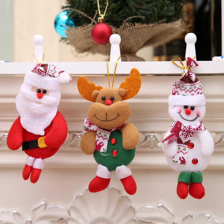Buon Natale Ornamenti Decorazioni di natale Regalo di Natale Babbo Natale Pupazzo di Neve Albero di Bambola Giocattolo Appendere Decorazioni per la casa Enfeites De Natal