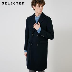 Image 2 - SELECTED Autumn & Winter New Mens Wool Coat Vintage Business Long Woolen Outwear Jacket Coat T