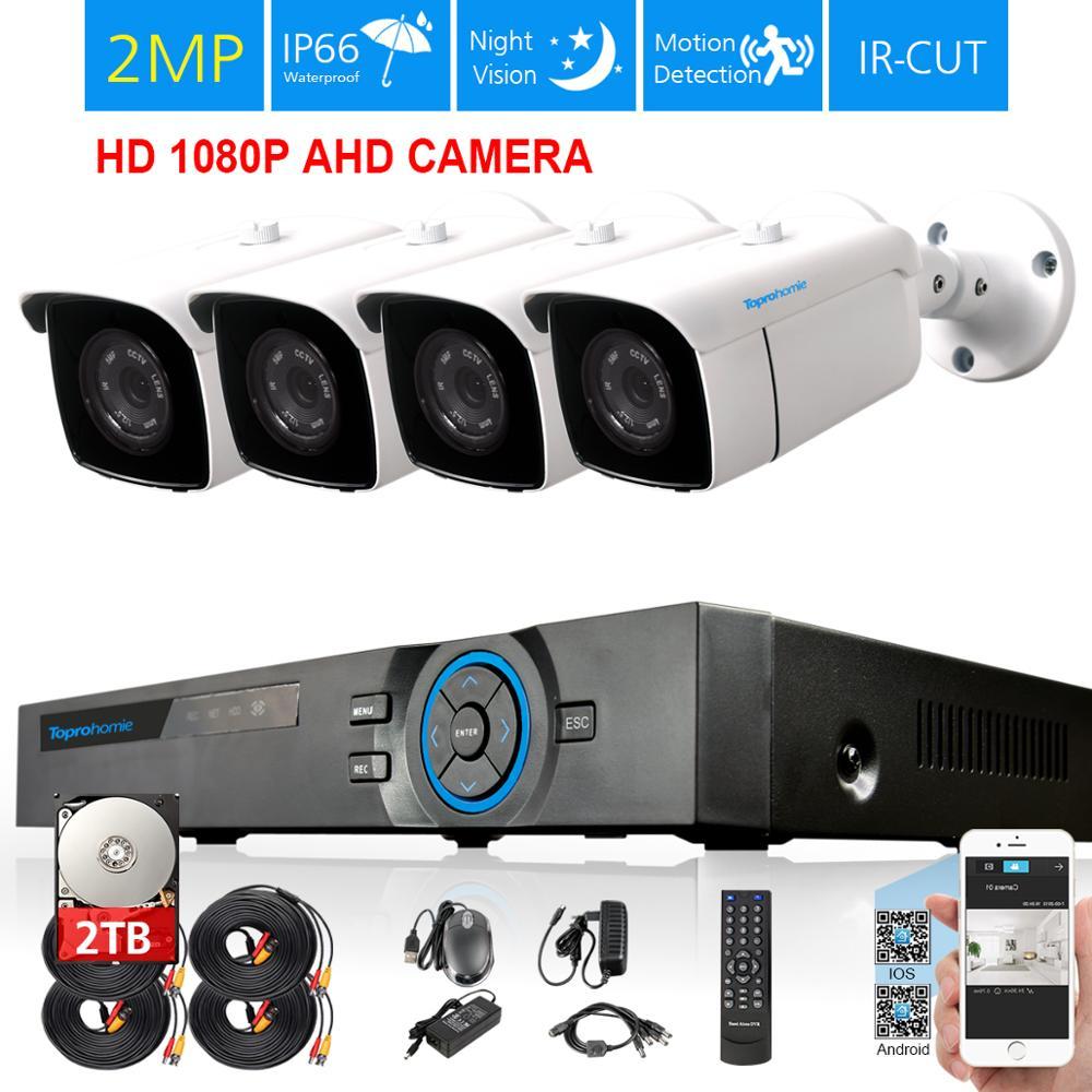 2X//4X 2MP 1080P 3000TVL Outdoor CCTV DVR Security Camera Night Vision Waterproof