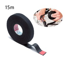 15M Rolls Wire Loom Harness Tape Heat-resistant Wiring Harness Cloth Fabric Tape Adhesive Fabric Insulation Tape