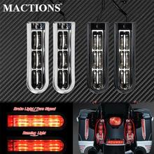 Motorcycle Accent Saddlebag Filler Inserts Support LED Lights For Harley Touring Road Electra Glide CVO Limited FLHTKSE 2014-Up
