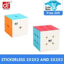 Mais barato qiyi guerreiro s 3x3x3 cubo mágico vela com profissional qidi s 2x2x2 3x3 velocidade quebra-cabeça 2x2 cubo magico brinquedos educativos