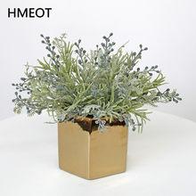 Plantas artificiales mil frutas de seda Paquete de plantas falsas hogar Deco pequeño estilo fresco ramo de flores arreglo accesorios 34cm