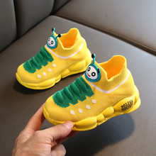 Kids Shoes Girls Boys Sport Stretch Mesh Children Cartoon Infant Girls