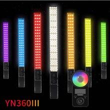 Yongnuo YN360III כף יד RGB LED וידאו אור קרח מקל 3200 5600K Bi צבע/5500 K מגע התאמת YN360 III תמונה מלא תאורה