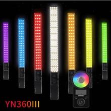 Yongnuo YN360III el RGB LED Video işığı dondurma çubuğu 3200 5600K Bi renkli/5500 K dokunmatik ayarlama YN360 III fotoğraf dolgu aydınlatma