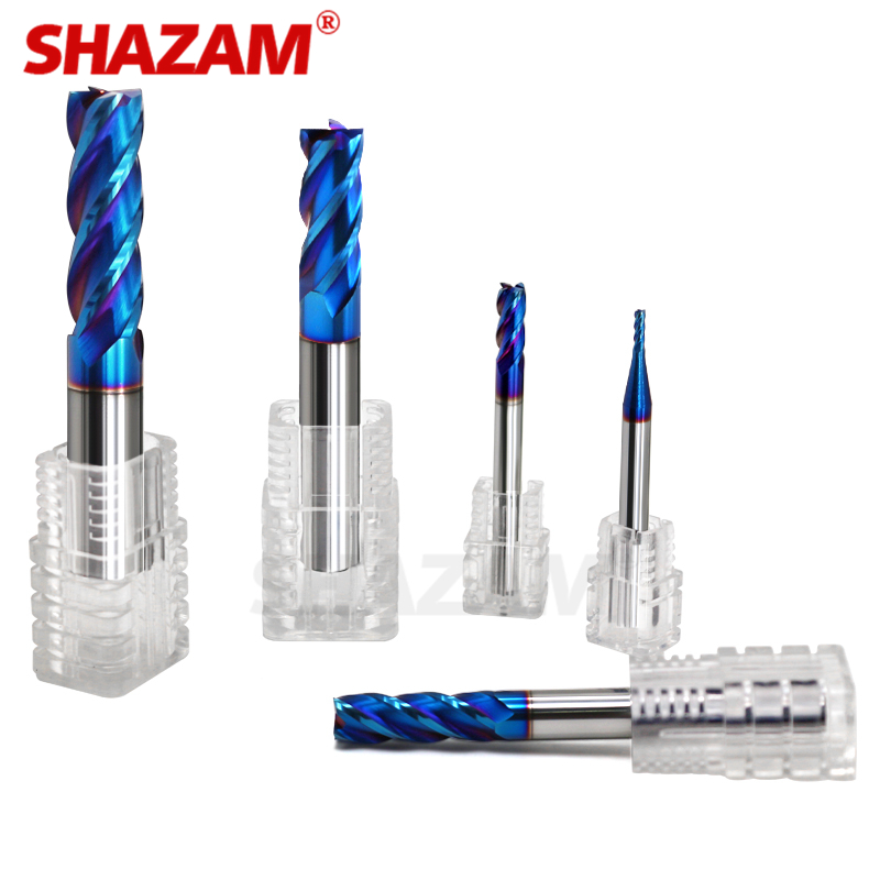 Milling Cutter Alloy Coating Tungsten Steel Tool Cnc Maching Hrc70 Endmill SHAZAM Top  Milling Cutter Kit Milling Machine Tools