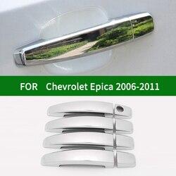 Para Chevrolet Holden Epica Tosca Daewoo Tosca 2006-2011 plata cromada para manija de puerta lateral de coche cubierta ribete 2007 2008 2009 2010