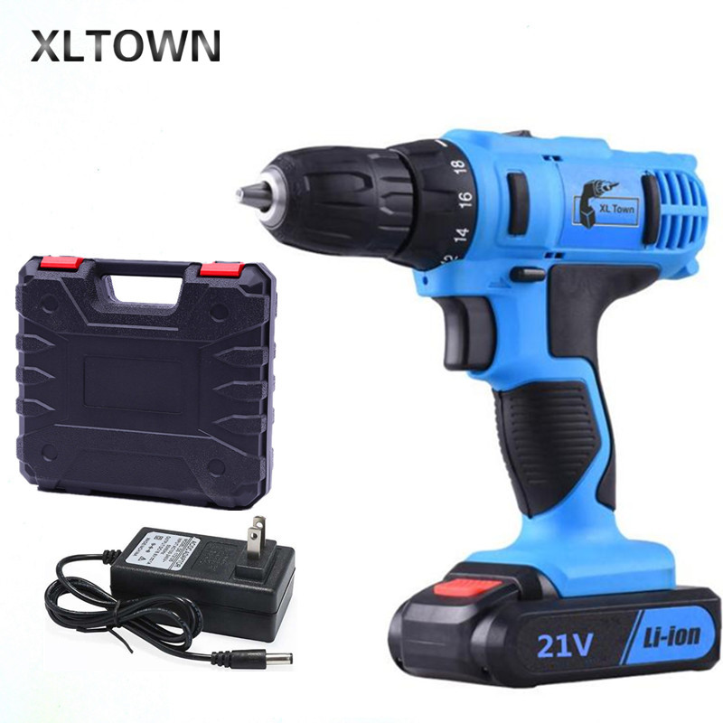 XLTOWN21v Cordless Electric Screwdriver High Quality Cordless Drill Rechargeable Lithium Battery Electric Screwdriver Power Tool