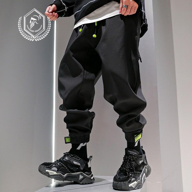 Men Safari Style Fleece Ankle-Length Jogger Pants Casual Loose Harem Hip Hop Pants