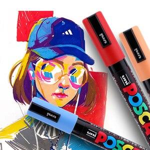 Image 5 - UNI POSCA Marqueur Stylo Hòa Tấu Nhạc POP Publicité Affiche Graffiti Note Stylo Couleur Brillant Multicolore Stylo PC 1M PC 3M PC 5M
