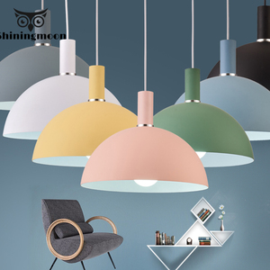 Nordic Decor Macaron Pendant Lights Modern Minimalist Kitchen Dining Room Restaurant Pendant Lamp Coffee Bar Store Light Fixture|Pendant Lights| |  -