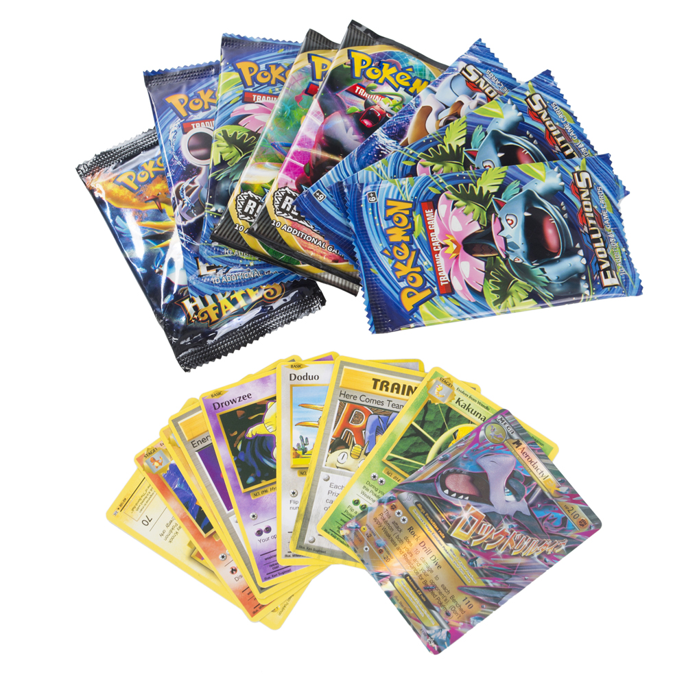 324Pcs Game Collection Cards Pokemon Cards Booster Boxes Sun & Moon Evolution Sword Shield Hidden Fate Trading Card Kids Toys 3