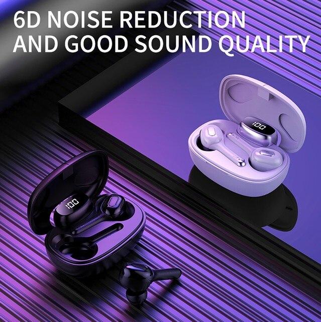 GOOJODOQ 5.0 écouteurs sans fil étanche TWS HiFi 6D stéréo Bluetooth casque avec double micro 3rd génération Auriculares