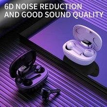 Goojodoq 5.0 fones de ouvido sem fio à prova dtwágua tws 6d estéreo bluetooth fones com microfone duplo 3rd geração auriculares