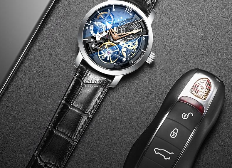 H4604eecc75a540a2a21771dddd9319b1Q AILANG Original design watch automatic tourbillon wrist watches men montre homme mechanical Leather pilot diver Skeleton 2019