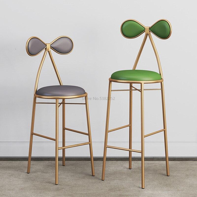 Metal Bar Restaurant Photographic Studio Prop Chair Solo Medicine Beautiful Cosmetology Shop Makeup Stool Seat