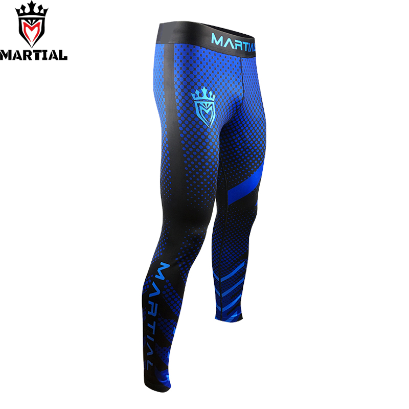 Martial: 2019 ORIGINAL DESIGN  MMA FIGHT BLUE PANTS BJJ BOXING SPATS