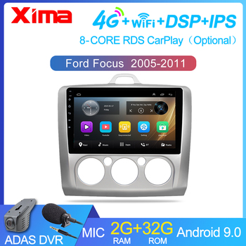 9 inch Android 9.0 Car Radio Dvd   Player For ford focus EXI MT 2 3 Mk2 2004 2005 2006 2007 -2011 2Din GPS Multimedia Player