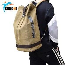 Sıcak üst tuval erkekler spor spor çantaları açık basketbol sırt çantası genç futbol topu paketi Laptop çantası eğitim spor çantası
