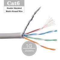 Cable Ethernet RJ45 Cat6, doble blindado, SFTP, multihilo, 8P8C, rj45, par trenzado de red para portátiles, Cat 6, Lan